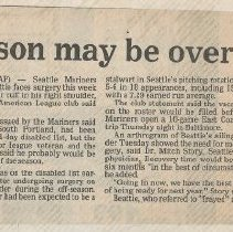Image of Jim Beattie - Seattle Mariner 1985