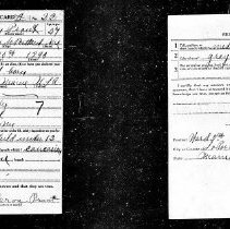 Image of Frank L. Prout registration card, WWI