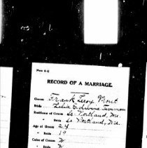 Image of Frank Prout and Lelia Timmons marriage
