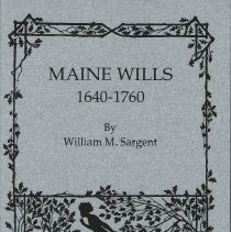 Image of Maine Wills: 1640-1760. Two volumes.