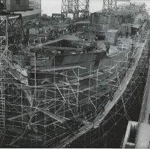 Image of Hull #1, Todd-Bath yard, December 4, 1941