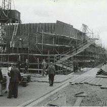 Image of Bow view, Hull #1, Todd-Bath yard, October 25, 1941