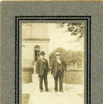 Image of [Two men posing in front of a house] - Brooklyn Prohibition collection
