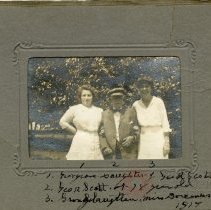 Image of [Elderly man with daughter and grand-daughter] - Brooklyn Prohibition collection