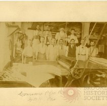 Image of [A group of men at the Lawrence Paper Box Co.] - Brooklyn Prohibition collection