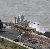 Image of [Damaged walkway from Hurricane Sandy] - MIchael Claro Hurricane Sandy Photographs