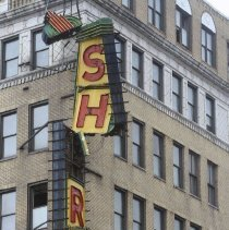 Image of [Shore Hotel sign damaged from the Hurricane Sandy] - MIchael Claro Hurricane Sandy Photographs