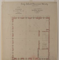 Image of Long Island Historical Society, Museum Floor Plan - 128 Pierrepont Street building architectural drawings