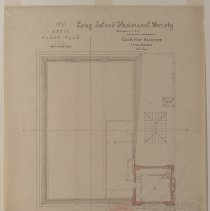 Image of Long Island Historical Society, Attic Floor Plan - 128 Pierrepont Street building architectural drawings