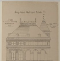 Image of Long Island Historical Society, Clinton Street Elevation - 128 Pierrepont Street building architectural drawings