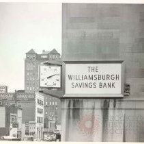 Image of [Exterior Views - early exterior view 17] - Williamsburgh Savings Bank Building photographs and architectural drawings