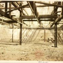 Image of [Construction - foundations and framework view 1] - Williamsburgh Savings Bank Building photographs and architectural drawings