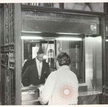 Image of [Tellers and customers view 1] - Williamsburgh Savings Bank Building photographs and architectural drawings
