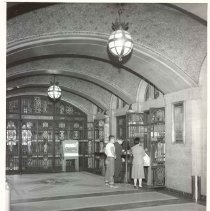 Image of [Tellers and customers view 2] - Williamsburgh Savings Bank Building photographs and architectural drawings