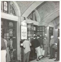 Image of [Tellers and customers view 3] - Williamsburgh Savings Bank Building photographs and architectural drawings