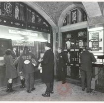 Image of [Tellers and customers view 5] - Williamsburgh Savings Bank Building photographs and architectural drawings