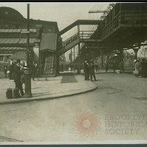 Image of [Atlantic Avenue elevated train station] - Early Brooklyn and Long Island photograph collection