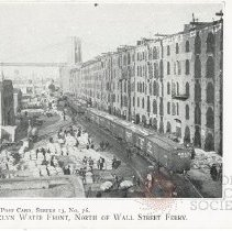 Image of Brooklyn Water Front, North of Wall Street Ferry - Postcard Collection