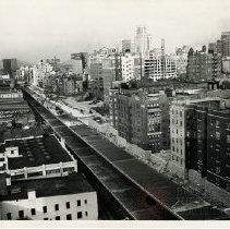 Image of [Construction of Brooklyn-Queens Expressway, Furman Street Near Joralemon Street] - Brooklyn photograph and illustration collection