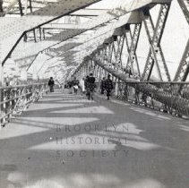 Image of [Williamsburg Bridge walkway] - Brooklyn photograph and illustration collection
