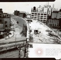 Image of [Construction of Brooklyn-Queens Expressway] - Brooklyn photograph and illustration collection