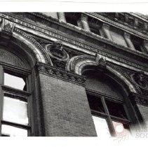 Image of [Window Detail of Long Island Historical Society, Pierrepont Street and Clinton Street] - Long Island Historical Society photographs