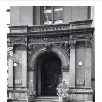 Image of [Entrance to the Long Island Historical Society] - Long Island Historical Society photographs