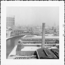 Image of [View from window of Smith-9th Street Station (IND) looking north.] - John D. Morrell photographs