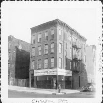 Image of [Northeast corner of Clinton Street and Nelson Street.] - John D. Morrell photographs