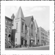 Image of [Adelphi Street (west side) between Mrytle Avenue and Willoughby Avenue.] - John D. Morrell photographs
