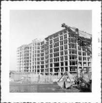 Image of [Construction of apartment house, northwest corner of Grand Avenue & Willoughby Avenue.] - John D. Morrell photographs
