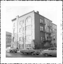 Image of [Corner of Washington Avenue & Willoughby Avenue (side facing on Willoughby Avenue.)] - John D. Morrell photographs