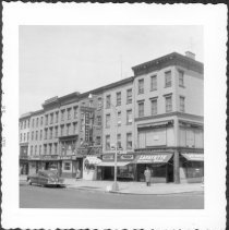 Image of [Northside of Lafayette Avenue between Fulton Street and South Elliot Place; facing on Lafayette Square. ] - John D. Morrell photographs