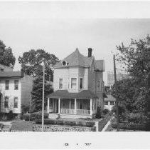 Image of [Houses on north side of 73rd Street, opposite McKinley Park.] - John D. Morrell photographs