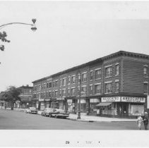 Image of [View of east side of Rogers Avenue.] - John D. Morrell photographs