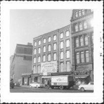 Image of [Fulton Street between Clark Street and Tillary Street (corner of Tillary Street at left).] - John D. Morrell photographs