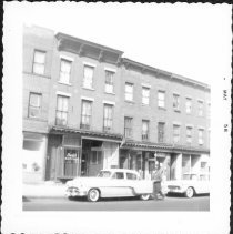 Image of [At left: part of #833 Fulton Street. ] - John D. Morrell photographs
