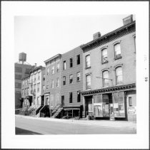 Image of [West side of Bridge Street between Johnson Street and Myrtle Avenue looking south.] - John D. Morrell photographs