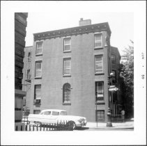 Image of [Southwest corner of Hicks Street (side showing) and Orange Street. ] - John D. Morrell photographs