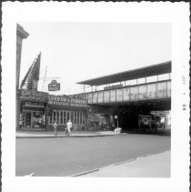 Image of [View of Kings Highway at Kings Highway station on Brighton Beach line.] - John D. Morrell photographs