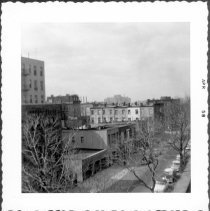 Image of [View from roof of Pratt Institute Library looking northwest along Hall Street.] - John D. Morrell photographs