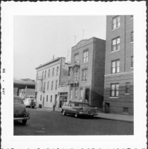 Image of [North side of 61st Street, looking northwest toward corner of 3rd Avenue (far left). - John D. Morrell photographs