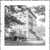 Image of [#58 Willow Street. South west corner of Orange Street and Willow Street - Orange Street side at right. ] - John D. Morrell photographs