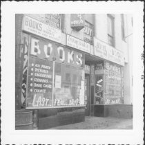 Image of [Civic Center Book Shop, Pierrepont Street near Fulton Street.] - John D. Morrell photographs