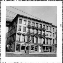 Image of [Northeast corner of Fulton Street and Water Street.] - John D. Morrell photographs