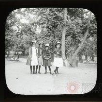 Image of [Four girls, Prospect Park] - Adrian Vanderveer Martense collection