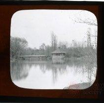 Image of [Ford Bridge and Rustic Shelter, Prospect Park] - Adrian Vanderveer Martense collection