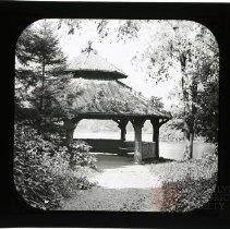 Image of [Rustic Shelter, Prospect Park] - Adrian Vanderveer Martense collection