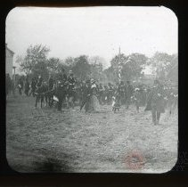 Image of [Crowd of people outside at auction] - Adrian Vanderveer Martense collection