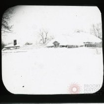 Image of Blizzard March 1888, Father's Greenhouse - Adrian Vanderveer Martense collection